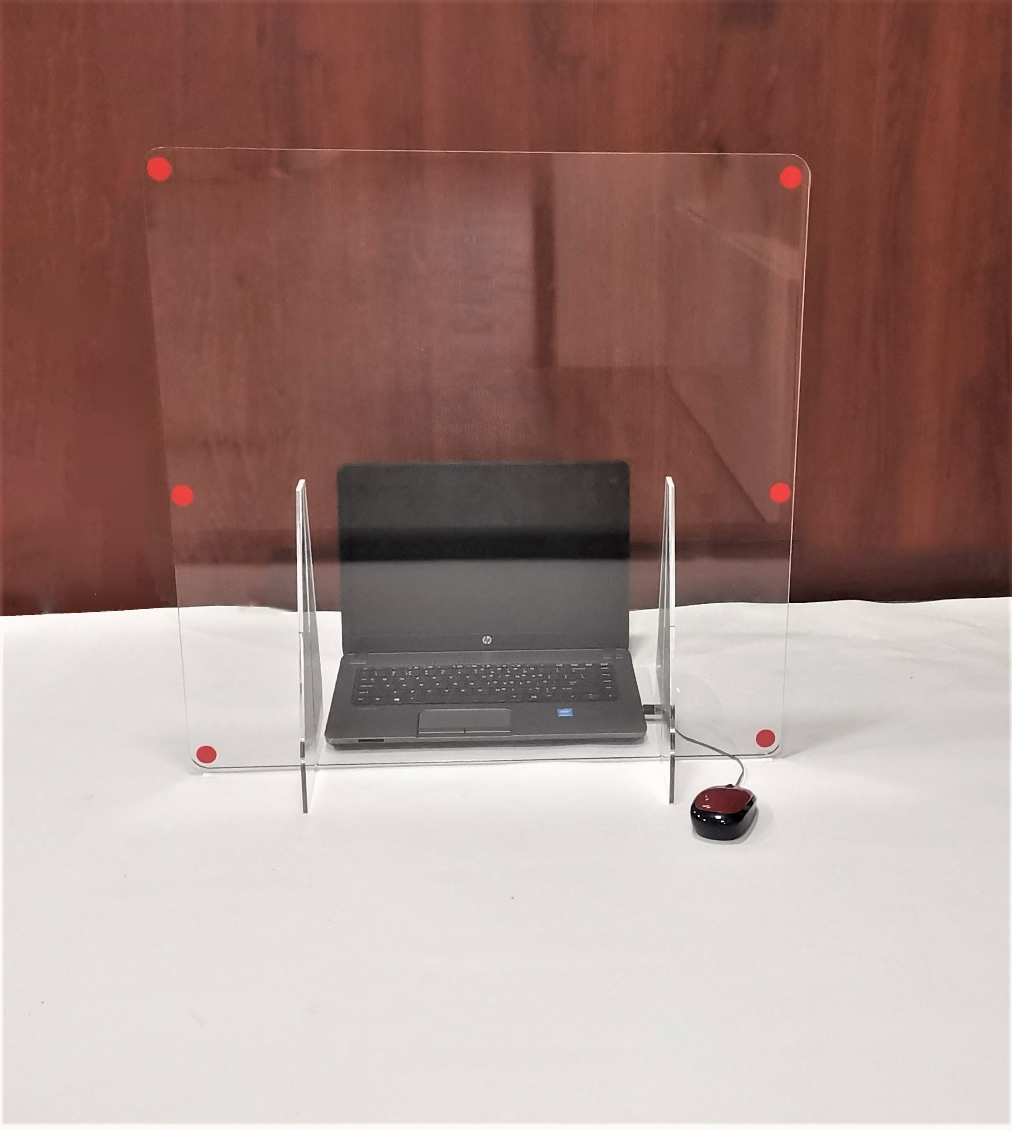 Safety Shield Protective Screen Desktop Stand 01