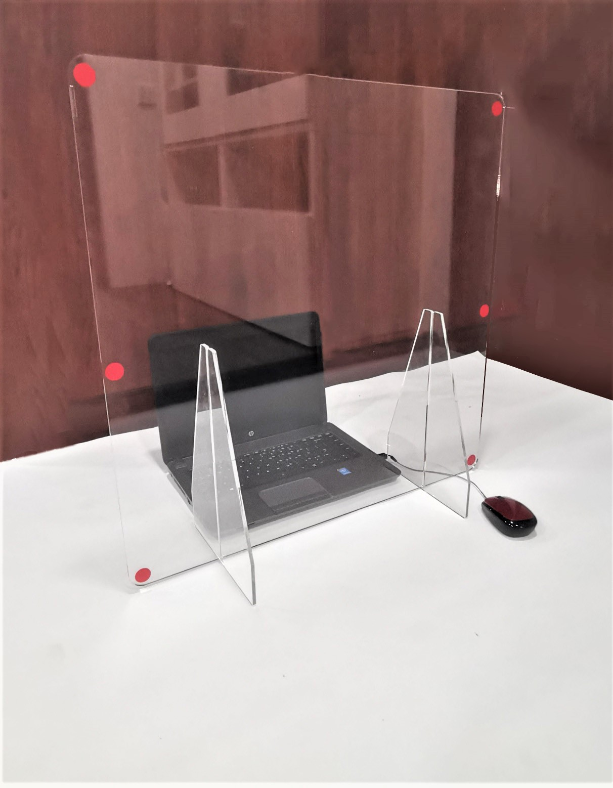Safety Shield Protective Screen Desktop Stand 02