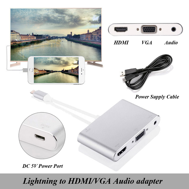 Lightning to HDMI VGA Audio Adapter 1