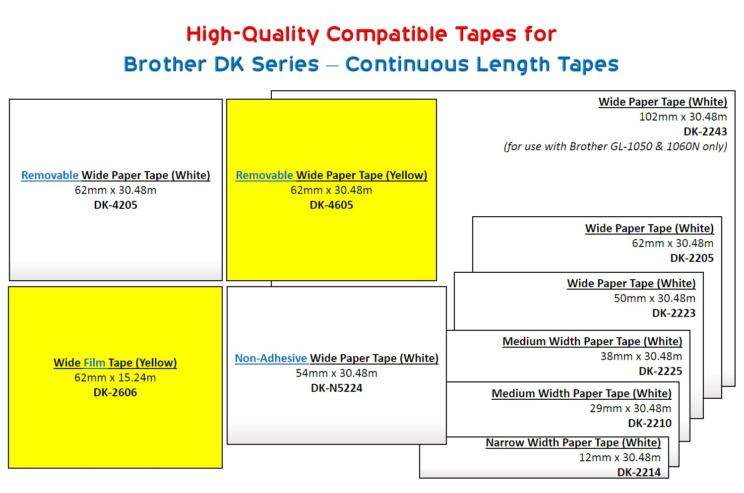 Brother DK Series Continuous length tapes 2