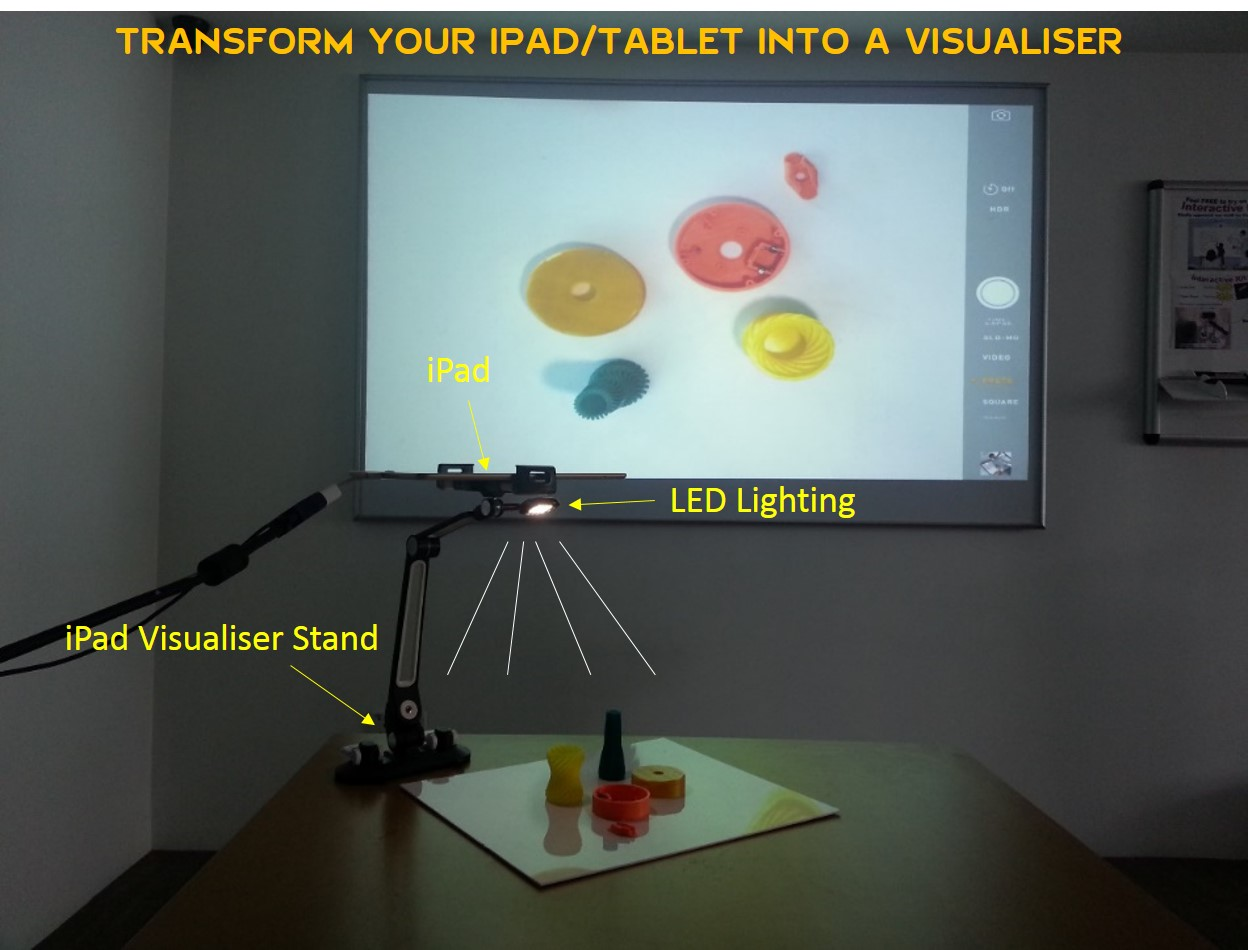 iPad visualiser stand suction 20