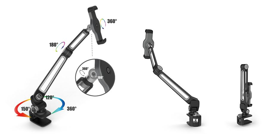 ipad visualiser stand clamp 2
