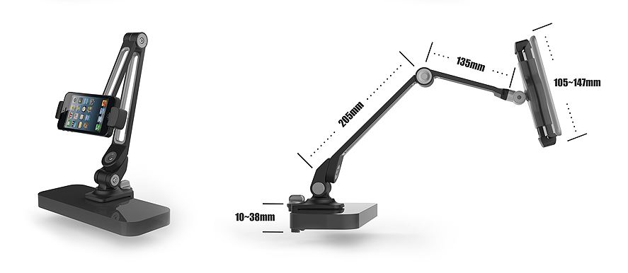 ipad visualiser stand clamp 3