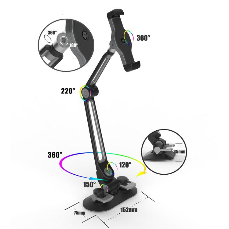 ipad visualiser stand suction 9